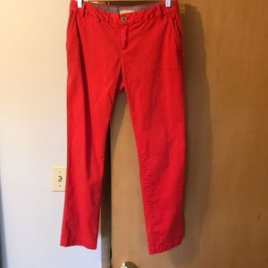 Red CITY chinos banana republic pants small 26 2 0